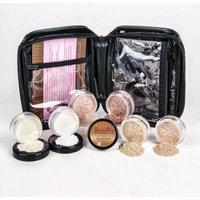 Mineral Makeup XXL KIT w/ COSMETIC CASE Full Size Set Sheer Bare Skin Powder Cover (Ebony)
