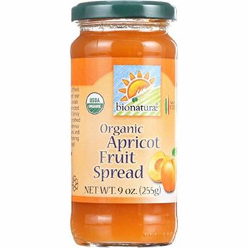 Bionaturae Fruit Spread - Organic - Apricot - 9 oz - case of 12 - 95%+ Organic -