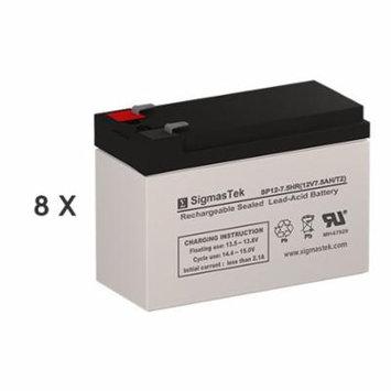 APC APC3TA Replacement Batteries (12V 7.5AH ) (Set of 8)