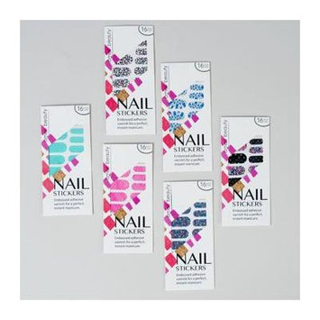 NAIL STICKERS 16CT EMBOSSED 6AST STYLES W/WINDOW ENVELOPE, Case Pack of 36