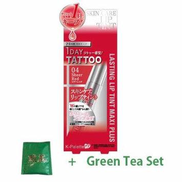K-Palette Lasting Lip Tint Maxi Plus - Shear Red (Green Tea Set)