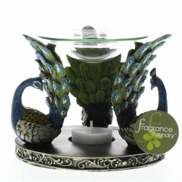 Hot Oil Warmer, Oil Warmer Candle Holder, Essential Peacock Plume Oil Warmer