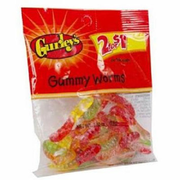 Gurley 2/$1 Gummy Worms 12/2.5 Oz - Pack Of 12