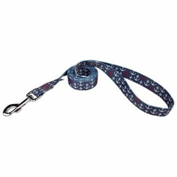 Country Brook Design® 5/8 Inch Anchors Away Dog Leash - 4 Foot