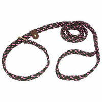 Lone Wolf Pink Camouflage Flat Braided Rope Slip Lead, 6ft x 5/8in