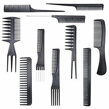 10-Piece Professional Salon Grade Quality Styling Comb Set ( 2-Pack )