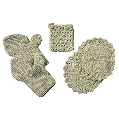 Toockies Organic Cotton Bath Bundle of 5 Items: 2 Circulation Gloves, 1 Soap Sock, and 2 Wash Cloths for Her