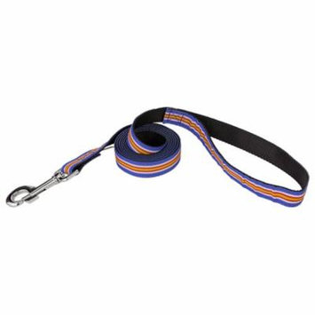 Country Brook Design® 3/4 Inch Nautical Stripes Ribbon Dog Leash - 2 Foot-Limited Edition