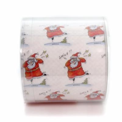 Christmas DESIGNER TOILET PAPER Paper Santa Merry Stocking