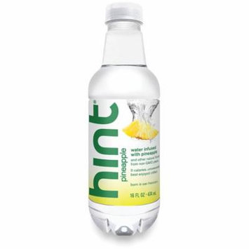 Hint Water, Pineapple, 16 Fl Oz, 12 Ct