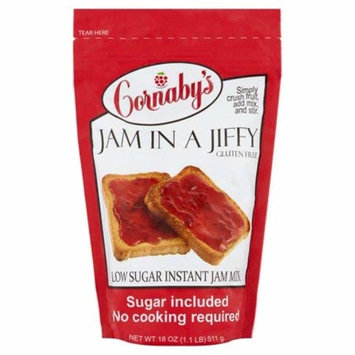Cornaby's Jam in a Jiffy Low Sugar Instant Jam Mix, 18 oz -2PACK