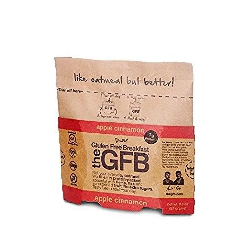 The Gluten Free Bar High Protein Oatmeal Power Breakfast, Apple Cinnamon, 2 Ounce [Apple Cinnamon]