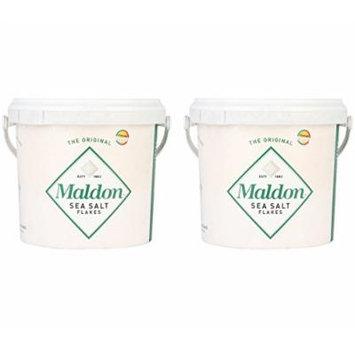 Maldon Sea Salt Flakes 1.5kg/3.3lbs Tub (Pack of 2)