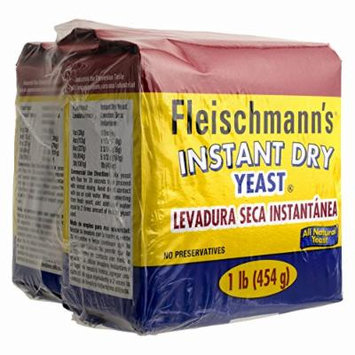 Fleischmann's Instant Dry Yeast, 2 pk./1 lb. (pack of 2)