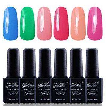 Y&S Gel Nail Polish,Soak Off Gel UV Varnish 6Pcs Sets #011