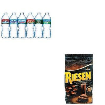 KITNLE101243RSN398052 - Value Kit - Riesen Chocolate Caramel Candies (RSN398052) and Nestle Bottled Spring Water (NLE101243)
