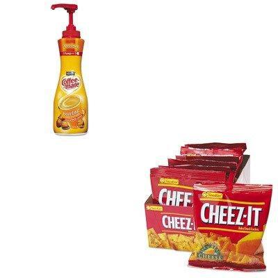KITKEB12233NES18447 - Value Kit - Coffee-mate Hazelnut Creamer (NES18447) and Kellogg's Cheez-It Crackers (KEB12233)