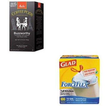 KITCOX70427MLA75412 - Value Kit - Melitta Coffee Pods (MLA75412) and Glad ForceFlex Tall-Kitchen Drawstring Bags (COX70427)