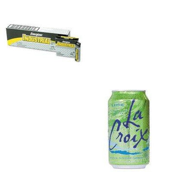 KITEVEEN91LCX151525 - Value Kit - National Beverage Corp. Sparkling Water (LCX151525) and Energizer Industrial Alkaline Batteries (EVEEN91)