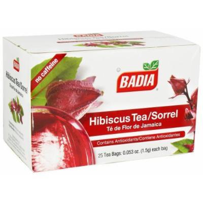 Badia Hibiscus Tea Bags Box of 25 bags ( Pack of 10 boxes )