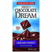 Dream Bar Chocolate Bars - 100 Percent Dairy Free - Sweet Chocolate - Creamy Sweet - 3 oz Bars - Case of 12 - Gluten Free-Dairy Free -