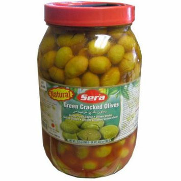 Green Cracked Olives (Sera) HOT, 70.5oz (2000g)