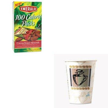 KITDFD84325DXE5342CDPK - Value Kit - Emerald 100 Calorie Pack Dark Chocolate Cocoa Roast Almonds (DFD84325) and Dixie Hot Cups (DXE5342CDPK)
