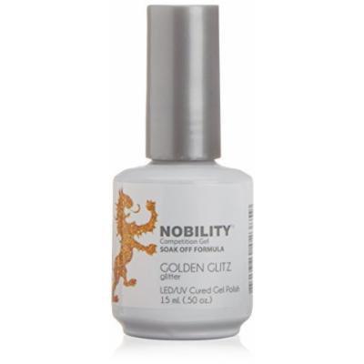 Lechat NOBILITY - Soak Off LED/UV Gel Color Polish 0.5oz/15ml (NBGP67 - Golden Glitz Glitter) by LeChat