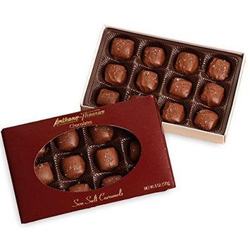 Anthony Thomas | Milk Chocolate Sea Salt Caramels | Award Winning Chocolates, Award Winning Company | Deliciously Delightful Snacks | 12 Count | 170g