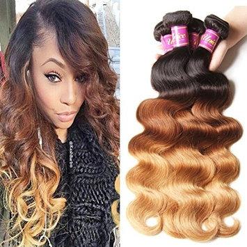 Unice Hair 3 Bundles Brazilian Hair Body Wave Ombre Hair Extensions 8a Grade Human Hair Wave 300g #1b/#4/#27