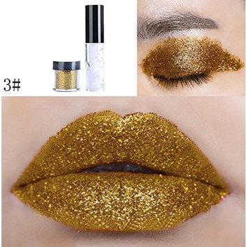 DZT1968 20colors Shimmer Glitter Lip Gloss Diamond Powder Palette Glitter Lipstick Cosmetic Eye Shadow