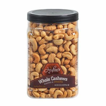 Jaybee's Unsalted Cashews Extra Large - Freshly Roasted - Great Everyday Snack or Gift Giving- Reusable Container - Certified Kosher (32 Ounces)