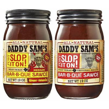 Daddy Sam's Original Sauce and Ginger Jalapeno Barbecue Sauce (2 Jars)