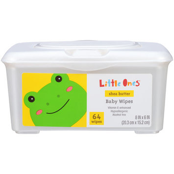 Little Ones L1 BABY WIPES SHEA .64C 64CT TUB