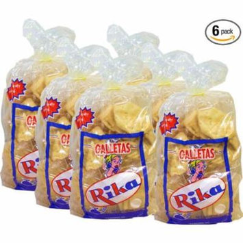 Cuban Style Crackers Rika 12 oz bag. Pack of 6