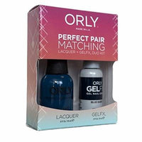 Orly Blue Suede Perfect Pair Matching Lacquer Plus Gelfx Duo Kit, 2 Count