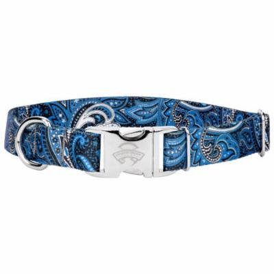 Country Brook Design® Premium Blue Paisley Dog Collar
