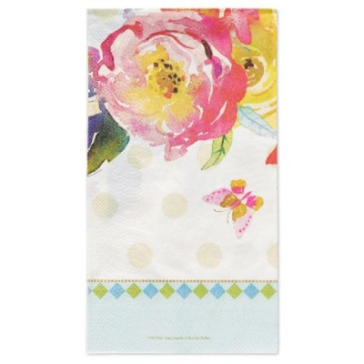 Papyrus Watercolor Flowers Guest Towel Napkin