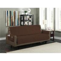 Kashi Home SC052246 Microfiber Furniture Protector with 5 in. Drop Strap & Side Pocket Sofa Brown