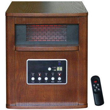 Cch Products Inc Large Room Infrared Quartz Heater with Wood Cabinet and Remote Control