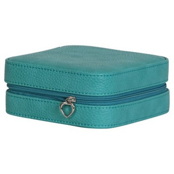 Mele & Co. Josette Women's Travel Jewelry Case in Faux Leather-Turquoise