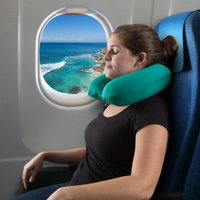 Trademark Global Llc Memory Foam Travel Pillow- Round U-Shaped Neck/Head Support with Pillowcase Protector for Sleeping, Airplanes, Train and Camping by Somerset Home