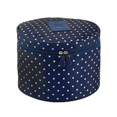 FakeFace Cute Compact Design Round Toiletry Cosmetic Bag Underwear Tidy Organizer Makeups Container Box Case Travel Bags