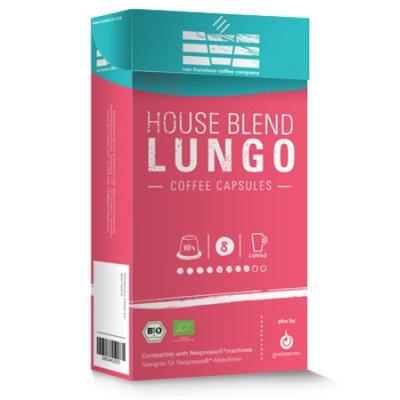 SFCC House Blend Lungo Dark, Nespresso Compatible Coffee Capsules, 50 Ct