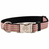 Country Brook Design® Premium Pink and Green Gingham Ribbon Collar Limited Edition