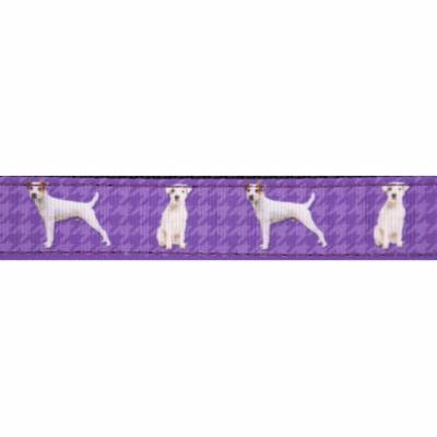 Country Brook Design® 3/4 Inch Parson Russell Terrier Ribbon Dog Leash - 6 Foot