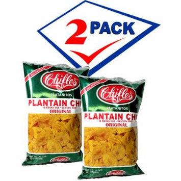 Mariquitas De Platano Largebag Plantain Chips Chifles. 10 oz each. Pack of 2