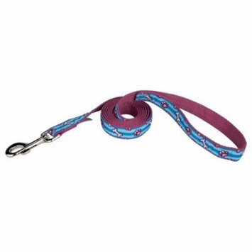 Country Brook Design® 1 Inch Pixel Paws Ribbon Dog Leash - 2 Foot