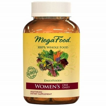 MegaFood - Women's One Daily, Multivitamin Support for Energy Production, Bone Strength, Hormone and Mood Balance with Iron and Vitamin D3, Vegetarian, Gluten-Free, Non-GMO, 60 Tablets (FFP)