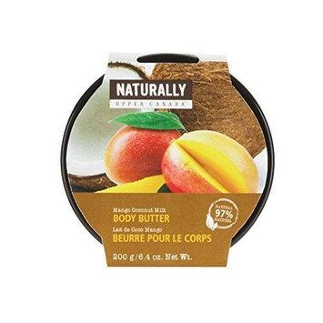 Upper Canada Soap Naturally Body Butter, Mango Coconut Milk, 6.4 Ounce by Upper Canada Soap